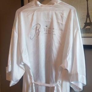 Victoria's Secret white satin BRIDE robe